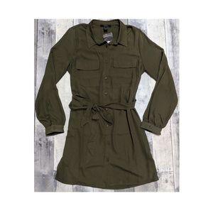 Forever 21 Forrest Green shirt dress - L